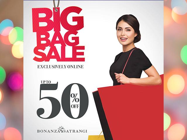 Bonanza Satrangi BIG BAG Sale! Upto 50% OFF Exclusively ONLINE