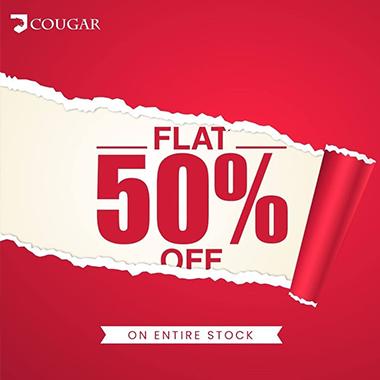 Cougar Summer Sale 2020! Flat 50% off