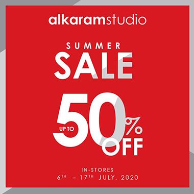 Alkaram Studio Summer Sale! Up to 50% off