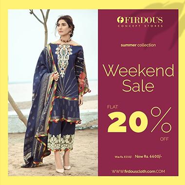 Firdous WEEKEND Sale! Flat 35% & 25% OFF