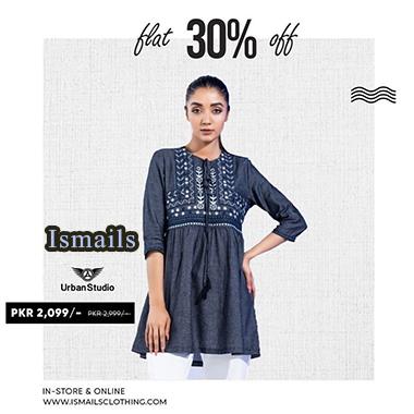 Ismails Flat Sale 2020! Flat 50% & 30% OFF
