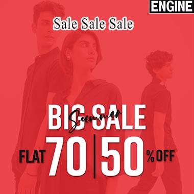 Engine Big Summer Sale 2021! Flat 70% & 50% off