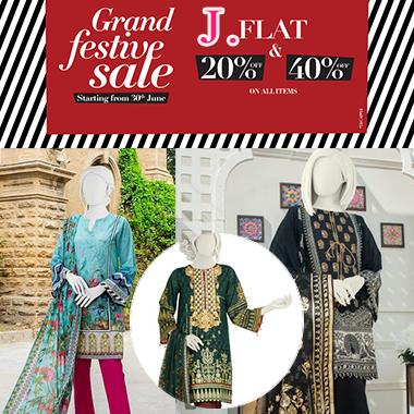 J. Grand Festive Sale 2021! Flat 20% & 40% off on items