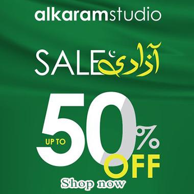 Alkaram Azadi Sale 2021! Celebrate 14th August 2021